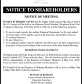 Ansa McAl Notice Shareholders